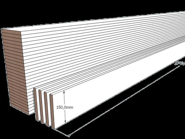 PAINEL MDF BRANCO 15mm 1 LADO FITADO 2,74 x 0,15
