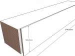 PAINEL 50 MDF BRANCO 15mm 1 LADO FITADO 2,74 x 0,50