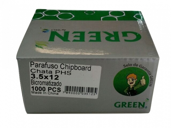 PARAFUSO 3,5 x 12mm  CH CX C/ 1000 WELT