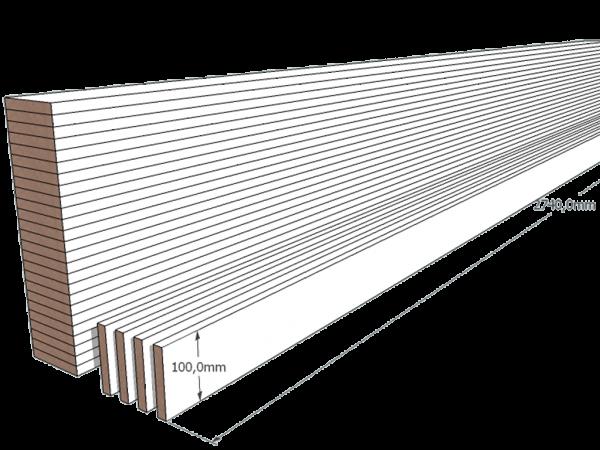 PAINEL MDF BRANCO 15mm 1 LADO FITADO 2,74 x 0,10