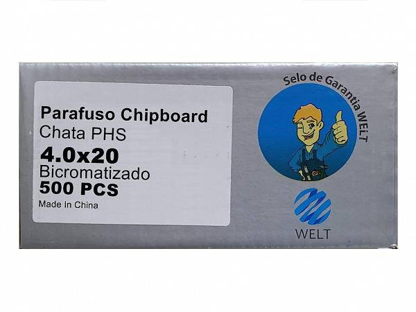 PARAFUSO 4 x 20mm CH CX C/ 500 WELT