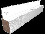 PAINEL 30 MDF BRANCO 15mm 1 LADO FITADO 2,74 x 0,30