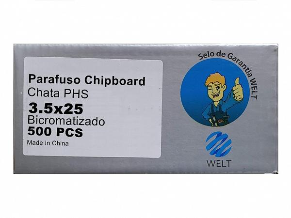 PARAFUSO 3,5 x 25mm CH CX C/ 500 WELT