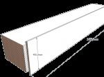 PAINEL 45 MDF BRANCO 15mm 1 LADO FITADO 2,74 x 0,45