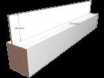 PAINEL 35 MDF BRANCO 15mm 1 LADO FITADO 2,74 x 0,35