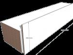 PAINEL 60 MDF BRANCO 15mm 1 LADO FITADO 2,74 x 0,60