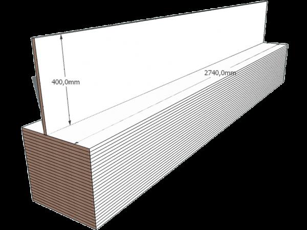 PAINEL 40 MDF BRANCO 15mm 1 LADO FITADO 2,74 x 0,40
