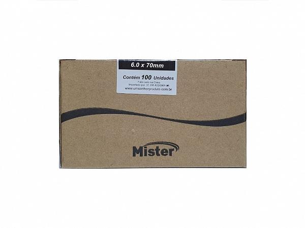 PARAFUSO 6 x 70mm CH CX C/ 100 MISTER