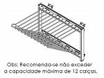 CALCEIRO TELESC.  380 X 330  X 450MM 12 VARAS