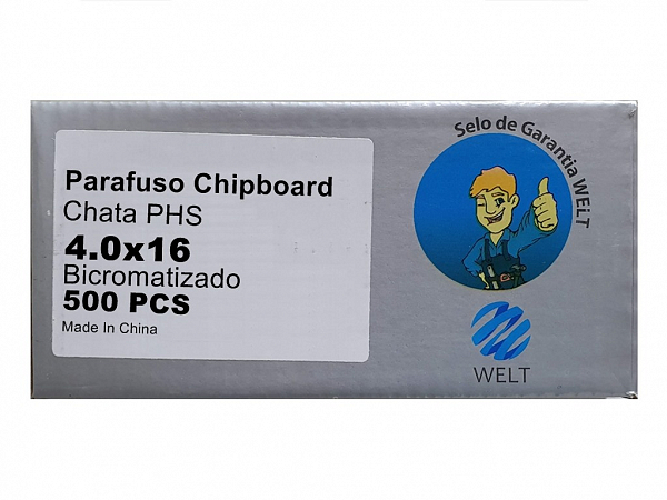 PARAFUSO 4 x 16mm CH CX C/ 500 WELT