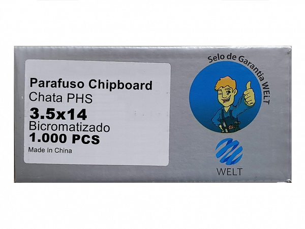 PARAFUSO 3,5 x 14mm CH CX C/ 1000 WELT